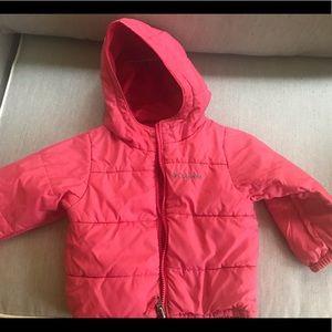 Gently used 3t girl's Columbia winter jacket